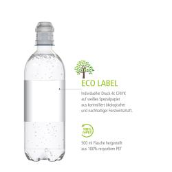 Mineralwasser Eco Label Druck