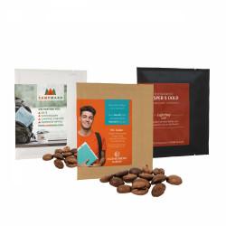 Kaffee Bag in schwarzer, brauner oder weißer Verpackung