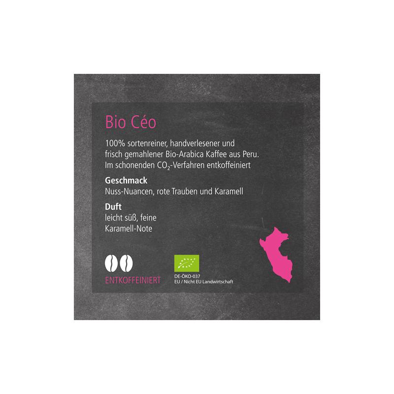 Kaffeesorte Bio Céo  (entkoffeiniert)