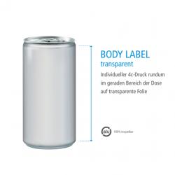 Druck Body Label transparent